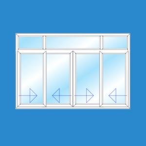 Cửa Sổ 4 Cánh Trượt | Cửa Nhựa Lõi Thép